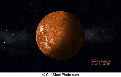 Solar System Planet Venus - imaginary illustration of solar...