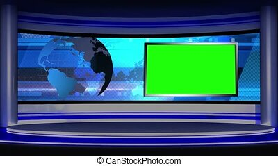 News TV Studio Set -15 - News TV Studio Set 15 - Virtual...
