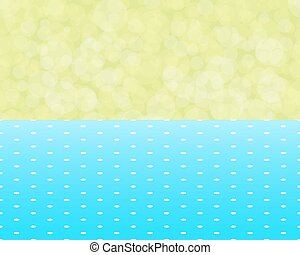 green background boken and blue tablecloth with polka dots seamless