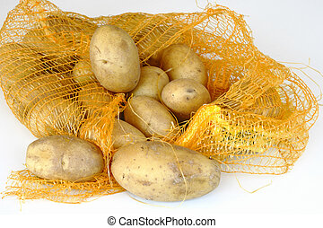 potatos on the white background