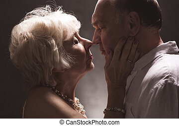 Their love is now stronger than ever - Shot of an elderly...