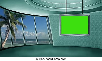 News TV Studio Set -20 - News TV Studio Set 20 - Virtual...