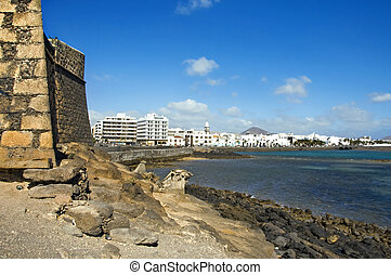 arrecife, canary islands - a view of Arrecife\'s seafront...