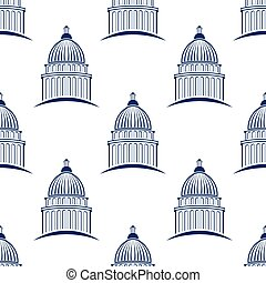 Capitol building seamless pattern background Vector graphic...