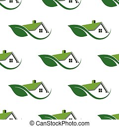 Natural House cleaning seamless pattern background.Vector...