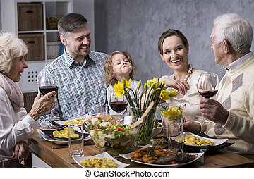 Priceless moments with family - Grandparents with their...