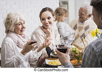 Family is a priceless treasure - Grandparents, granddaughter...