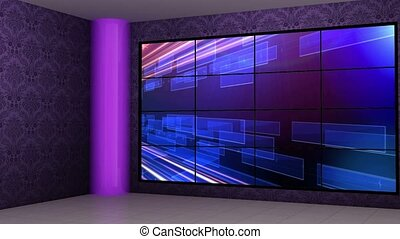 News TV Studio Set -16 - News TV Studio Set 16 - Virtual...