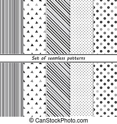 seamless set of simple patterns