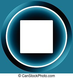 Icon white stop symbol - Icon with the button of a stop of...