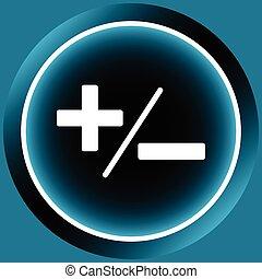 Icon white plus-minus - Button icons with mathematical...