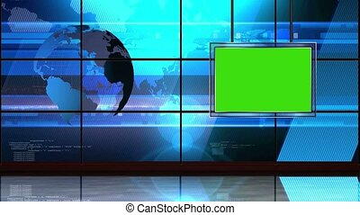 News TV Studio Set -18 - News TV Studio Set 18 - Virtual...