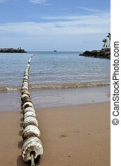 Dividing line in bay