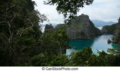beautyful lagoon in the islands, Philippines - Kayangan lake...
