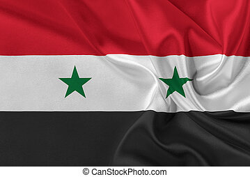 Flag of Syria - Flag of Syria waving in the wind