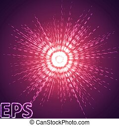 energy pulse effect. dual color version. - energy beam with...