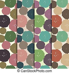 set of seamless patterns with tree rings. - Set of seamless...