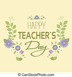 Teacher Holiday Greeting Card Flat - Teacher Holiday Flower...
