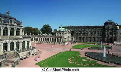 Zwinger palace, XVIII century - famous historic building in...
