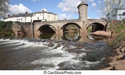 Monmouth Wales Wye valley town