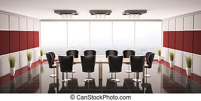 Modern boardroom interior 3d - Modern boardroom interior...