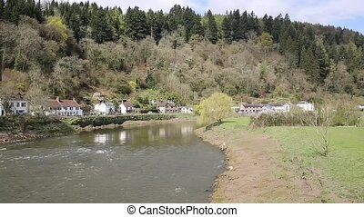 Wye river near Tintern Abbey Wales - River Wye near Tintern...