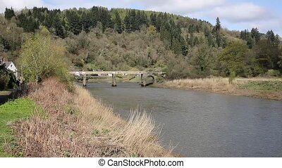 The River Wye near Tintern Abbey uk - The River Wye near...