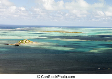 Coral-reef lagoon - Tropical coral-reef lagoon