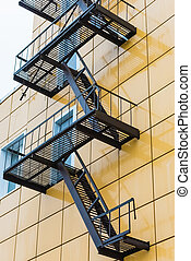 replacement ladder output - Side stairs outside the building...