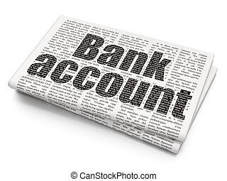 Money concept: Bank Account on Newspaper background - Money...
