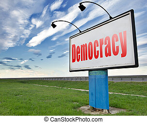 democracy - Democracy and political freedom power to the...