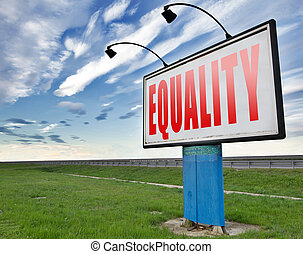 equality or equal rights