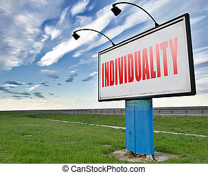 Individuality stand out from crowd and being different,...