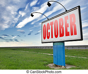 October autumn month - October autumn or fall month or event...