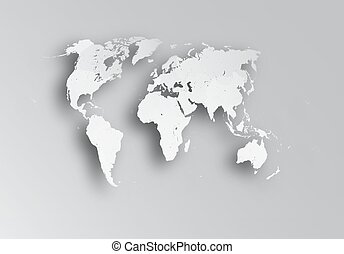Political map of world.
