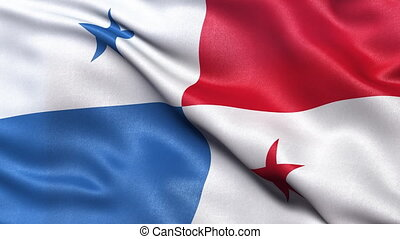 Flag of Panama seamless loop - Realistic flag of Panama...