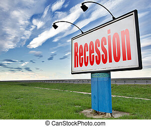 recession or economic crisis - Recession crisis bank and...