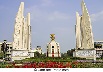 Monument of Democracy in Bangkok - Thailands landmark...