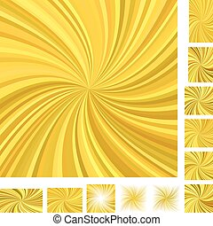 Golden spiral background set - Golden vector spiral...