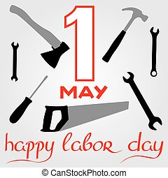 International Labor Day on May 1st Calligraphy and handmade...