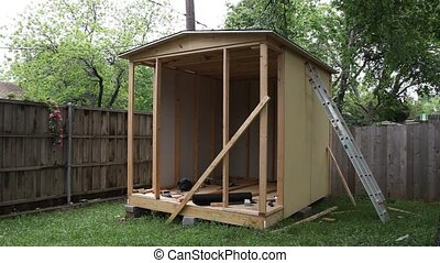 Small Shed Construction - This is a video of a small storage...