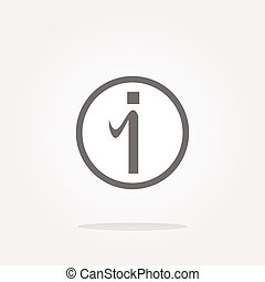 vector glossy web button with information sign. Rounded...