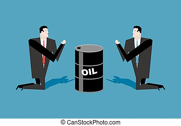 Businessman praying for oil barrels Prayer oil quotations...