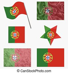 Set with Flags of Portugal - Flags of Portugal Made in...