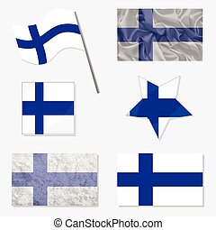 Set with Flags of Finland - Flags of Finland Made in...