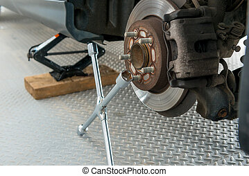 rear wheels and tools for tire fitting