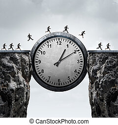 Business Time - Business time concept as a group of running...