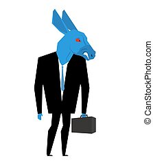 Donkey businessman. Metaphor of Democratic Party of United...