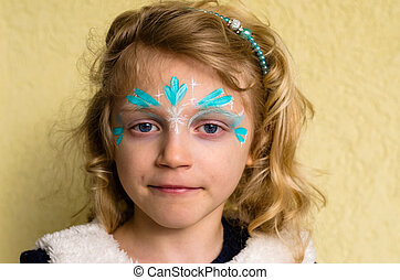 blue face painting