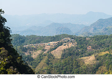 landscape of tribal village on the mountain